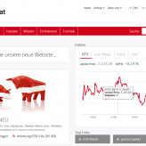 Die neue Website der Wiener Börse